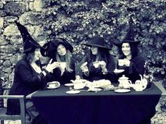 witchy tea party!? Yes please. friends witches