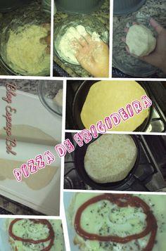 Pizza de frigideira rápida e fácil!  http://bebelvirtuosa.blogspot.com.br/