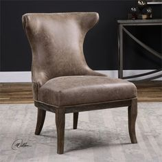 Uttermost Amery Weathered Accent Chair