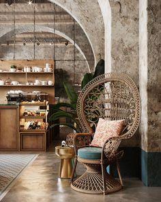 Home Decorators Collection Vanity Loft Interior, Restaurant Interior Design, Shop Interior Design, Cafe Design, Interior Architecture, Interior Decorating, Decorating Ideas, Interior Office, Dark Interiors