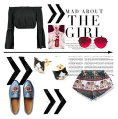 """""""Blood gets thin"""" by laura-ersek ❤ liked on Polyvore featuring Kershaw, WithChic, Boohoo, Gucci and Valentino"""