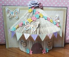 Book Folding Fairy House