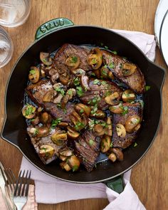 access to steak tips? Flank steak is a great substitute. If you can, buy the steak in large pieces and cut it yourself rather than buying steak that's already cut into cubes. Steak Tips, Beef Tips, Steak Recipes, Skillet Recipes, Easy Recipes, Healthy Recipes, Healthy Foods, Healthy Steak, Healthy Eating