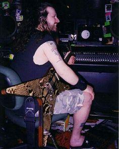 Dimebag in Studio . . . . #dimebagdarrell #dimebag #legend #legendary #band…
