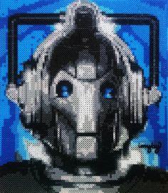 Cyberman - Doctor Who perler bead art by imakeyoubuyyes