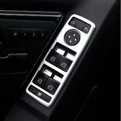 Car Interior Matt Chrome Door Window Switch panel cover trim For Mercedes Benz A B C E GLK Class W176 W246 W204 W212 W218 X204