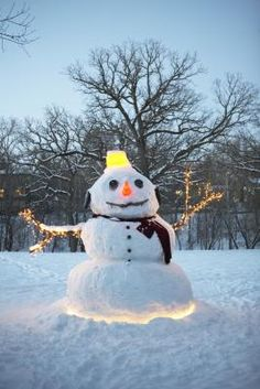 DIY Outdoor Christmas Lighting Ideas - Glowing Snowman - Click Pic for 21 DIY Christmas Ornaments Outside Christmas Decorations, Christmas Lights Outside, Homemade Christmas Decorations, Holiday Crafts, Outdoor Decorations, Christmas Displays, Outdoor Ideas, Merry Little Christmas, Christmas Love