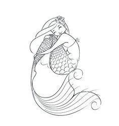 how to draw a cute mermaid