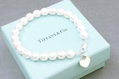 Freshwater pearl bracelet tiffany style by SomethingTiffanyBlue, $56.00
