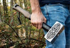 Viking hammer with Vegvisir Symbol carpentry woodwork | Etsy Blacksmith Hammer, Hammer Tool, War Hammer, Viking Armor, Viking Designs, Special Symbols, Vegvisir, Thors Hammer, Gifts For Boys