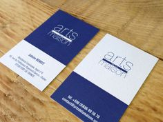 Carte De Visite Arts La Maison I Design By Crme Papier