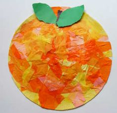 peach craft for kids