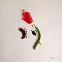 Garden Art Ganesha Stalk of gerbera~ Trunk Anther of white Lily~Tusk Crown~Hibiscus Ear~African tulip Eyes~Leea Rubra leaf Rangoli Designs Flower, Rangoli Border Designs, Colorful Rangoli Designs, Flower Rangoli, Ganesha Rangoli, Clay Ganesha, Ganesha Art, Lord Ganesha, Ganesh Chaturthi Decoration