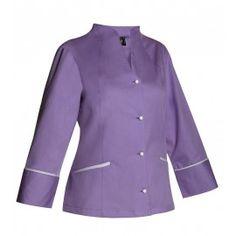 Chaqueta sanitaria de mujer cuello Mao - Monza Chef Jackets, Fashion, Dresses, Nursing Uniforms, Work Uniforms, Work Wear, Sewing Studio, Jackets, Women