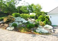front yard decorating ideas, rocks garden