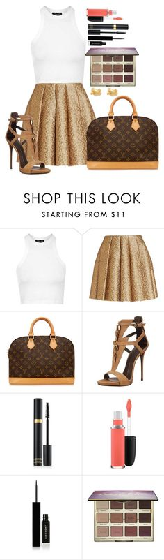 """Untitled #1369"" by fabianarveloc on Polyvore featuring Topshop, Creatures Of The Wind, Louis Vuitton, Giuseppe Zanotti, MAC Cosmetics, Givenchy, tarte, Kate Spade, women's clothing and women's fashion"
