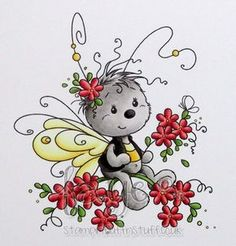 Cute Images, Cute Pictures, Whimsy Stamps, Baby Fairy, China Painting, Whimsical Art, Rock Art, Easy Drawings, Cute Art