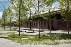 Landscape And Gardening Design Business Urban Landscape, Landscape Design, Garden Design, Garden Architecture, Architecture Portfolio, Architecture Diagrams, Urban Furniture, Street Furniture, Halle