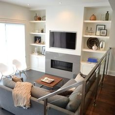 TV Fireplace Wall - Stacy Mclennan Design Ideas, Pictures, Remodel, and Decor - page 9