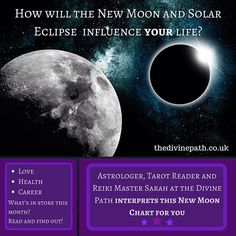 Awesome tarot reader and astrologer Sarah from the Divine Path talks about how this month's new moon influences your life.  If you need some help or guidance, we offer both Tarot readings, healing and spiritual counselling at the Divine Path =)