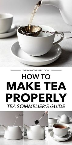 People usually think you only need a tea bag and warm water in a mug or cup to enjoy tea. In most cases, this isn't wrong, although there is a much more proper way to make and consume tea. If you want to follow the art of tea-making, learn from a tea sommelier in this post! Milk Tea Recipes, Cocoa Recipes, Iced Tea Recipes, Afternoon Tea Recipes, Yummy Drinks, Healthy Drinks, Tea Facts, Chai Recipe, Homemade Tea