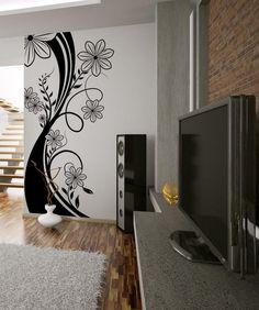 Vinyl Wall Decal Sticker Flower Stalk by Stickerbrand Wall Decal Sticker, Wall Stickers, Vinyl Wall Art, Vinyl Decals, Wall Painting Decor, Home Decor Trends, Home Interior, Modern Interior, Interior Design