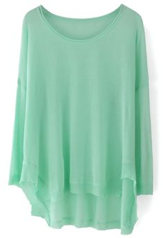 Dropped Oversize Sheer Top