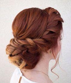Romantic braid up do