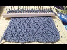 Tutorial para tejer bufanda bicolor en punto brioche [tejer con telar] - YouTube