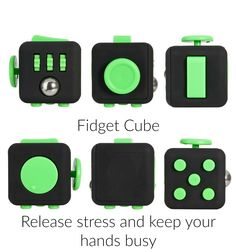 Release stress, keep your hands busy and improve your Workflow. The Fidget Cube will help you with this.