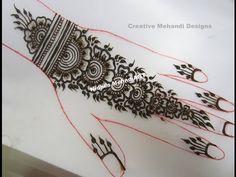 YouTube #repeatable #arabic #floral #henna #mehndi #design #tutorial