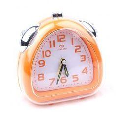 Fashion Pastoralism Mini Cute Orange Desk Alarm Clock With Night Light