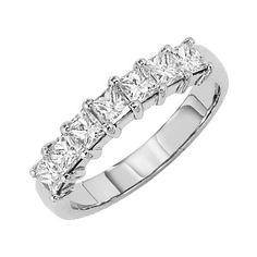Classic princess cut diamond wedding ring from Lieberfarb