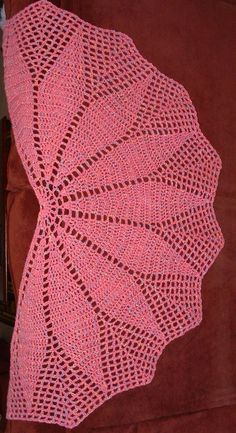 To The Point - free crochet shawl pattern by Cheri McEwen, Using any yarn/hook combo you like (this one's worsted weight)
