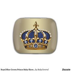 Royal Blue Crown Prince Baby Shower Candy Candy Tins