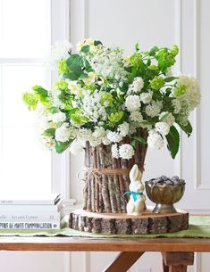 Beautiful Easter and spring centerpieces