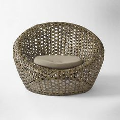Kinda like this one. Although I'm not sure how it'll hold up when the water pools. I'd like to keep this as a contender, but have an option incase it's not practical for us.  Montauk Nest Chair - Antique Palm | West Elm