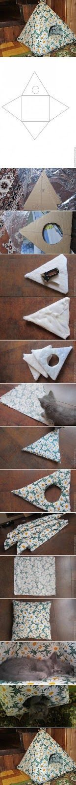 DIY Cat Tent DIY House for Cat or small dog or make it small enough for any of your pet rodents. Love rats and all!DIY House for Cat or small dog or make it small enough for any of your pet rodents. Love rats and all! Small Cat, Small Dogs, Small Animals, Small Small, Animals Dog, Diy Cat Tent, Diy Tent, Cat Teepee, Teepee Bed