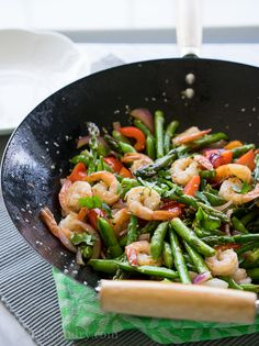 Shrimp and Asparagus Stir Fry | Serve with Minute White or Brown Rice ...