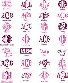 Monogramming Fonts