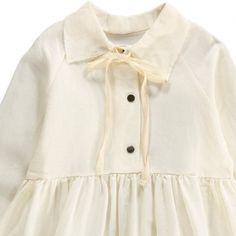 Robe Lin Col Claudine Lien Dream Blanc Little Creative Factory