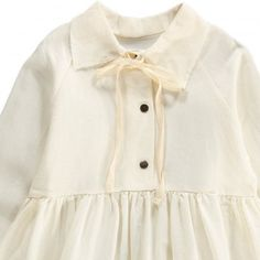 Robe Lin Col Claudine Lien Dream Blanc Little Creative Factory