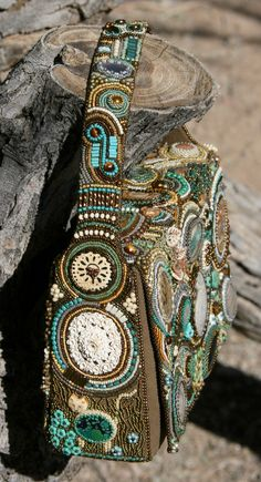 """""""The Purse"""", bead embroidery purse created for Susan Gottlieb."""