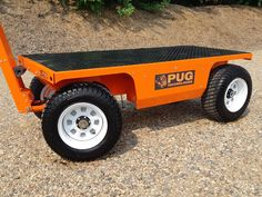 Custom All-Terrain Electric Utility Wagon - Before After DIY Techno Gadgets, Car Gadgets, Man Cave Tools, Landscape Trailers, Electric Utility, Cool Garages, Welding And Fabrication, Chain Drive, E Scooter