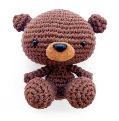 Levi the Baby Bear amigurumi crochet pattern by A Morning Cup of Jo Creations $
