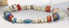Collar fenicio cornalina y pasta vitrea S. VI-IV a.C. - Subastas Segre