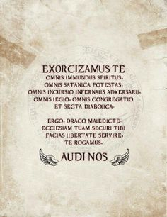 Exorcism spell - I've been searching for this.