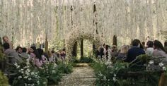 Bella & Edward...Twilight Wedding I love the flowers hanging from above- this would take a couple of days to do but would smell absolutely amazing