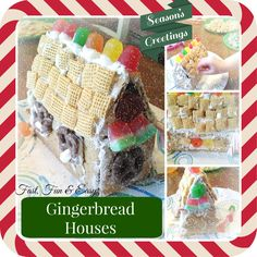 These gingerbread houses were a big hit this weekend at our house and a great way to kick-off the holiday season. My kids totally had a blast and my husband and I had so much fun making memories wi...
