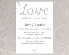 Wedding invitation template (trio of hearts) – DOWNLOAD PRINTABLE ...